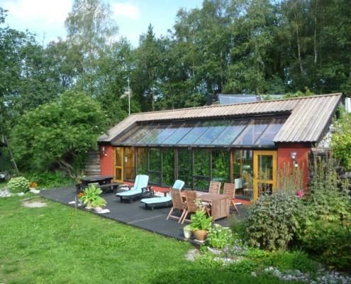 Anders Nyquists självbyggda kontor i Njurunda